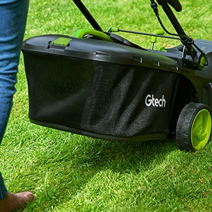 Gtech Cordless Lawnmower 2.0 grass bag