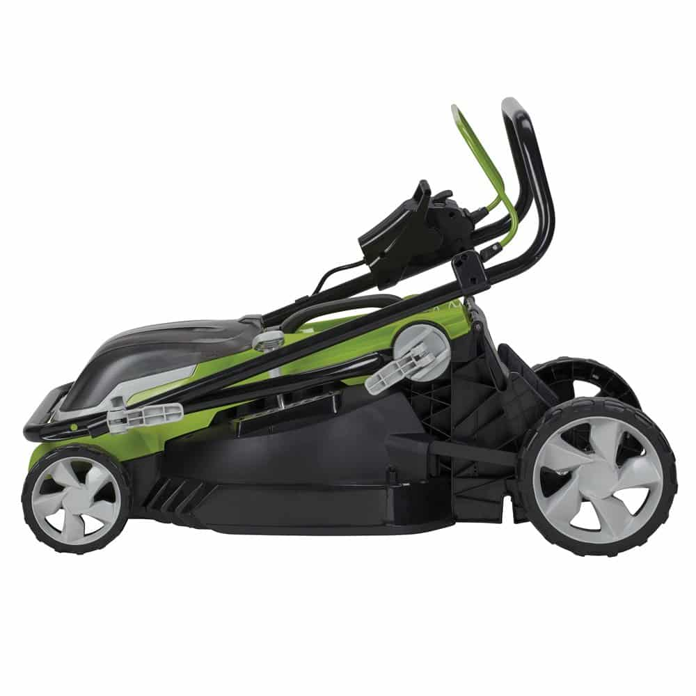 Aerotek folding mower for storage