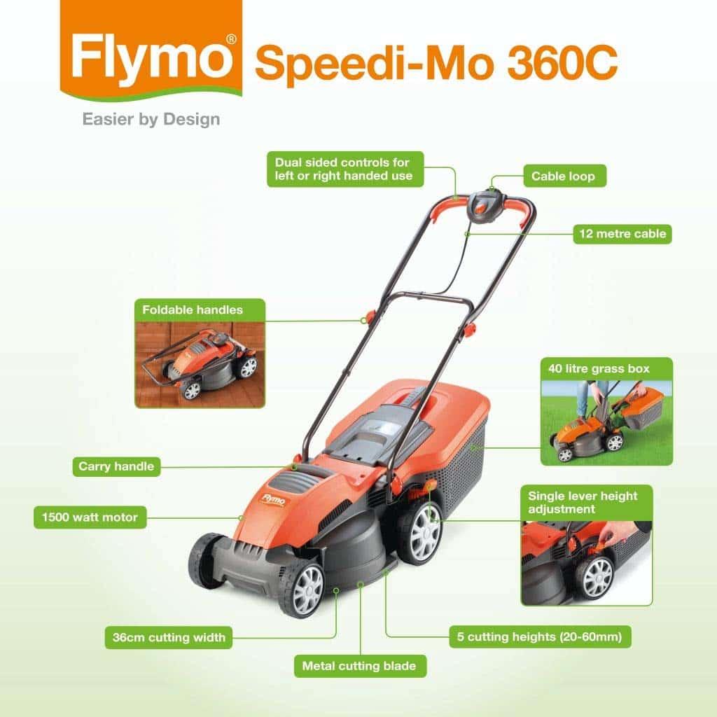Flymo Speedi-Mo 360C Specs