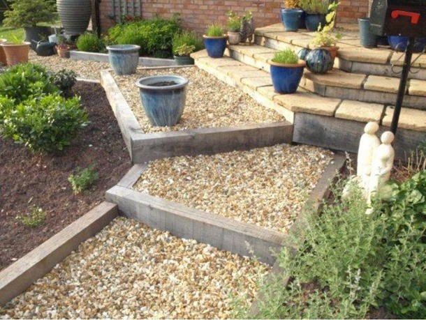 How To Lay Sleepers For Garden Edging